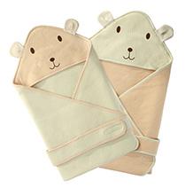猫与鱼春夏彩棉婴儿抱被纯棉
