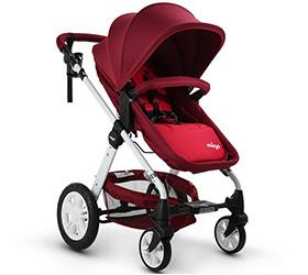 婴儿推车高景观婴儿车可坐可躺轻便 充气轮宝宝婴儿手推车